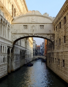 "The ""Bridge of Sighs"" leads from the Doge's Palace to dark, dank prison cells."
