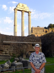 I couldn't resist posing in front of the remnants of the monument to Castor and Pollux, the Gemini Twins, my astrological sign.