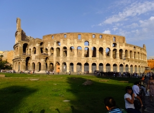The ancient monuments of the Roman Empire are magnificent, like the Colosseum, shown here.