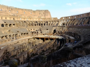 The Colosseum is a marvel, a testament to the grandeur of Roman civilization. Built by slaves in only 8 years, it seated more than 50,000 people. It is a history book come to life.