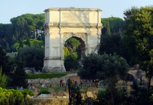 The Arch of Titus celebrated his victory over Jerusalem in the 1st century AD.
