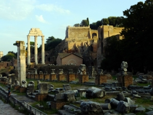 Just behind the Colosseum, The Forum is a higgledy-piggledy clamor of ruins on the Palatine Hill. The remains of triumphal arches, numerous temples, and government buildings belie the area's humble beginnings as a marketplace before 700 BC. Walking the streets of the Forum gives one a feel for this ancient city as it evolved and decayed over 1,000 years.