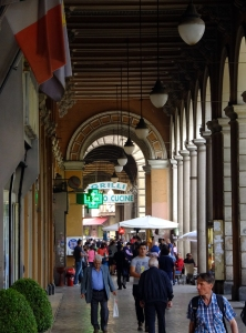 We arrived at our destination in the think of central Rome. We had an apartment off this bustling shopping plaza.