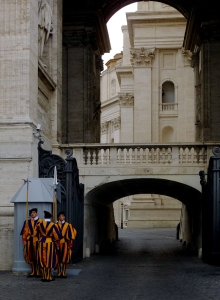 Back on St Peter's Square, we watched the Swiss Guards do their thing, and then wandered back toward the Metro to get back home. We'd