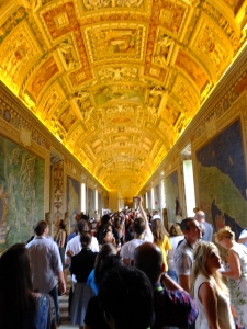 The Vatican is a grand complex of structures. Its museums are opulently designed and loaded with amazing art.