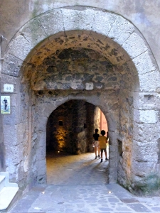 Ancient archways and steps lead from the high part of town down to the shore.