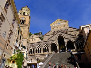 Amalfi town itself is delightful. Saint Andrew's Cathedral (Duomo) overlooks the Piazza Duomo in the heart of Amalfi. The cathedral dates to the 11th century.