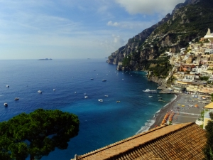 Positano offers breathtaking views of the Mediterranean.