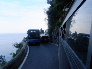 Bus drivers on the Amalfi Coast are a special breed, able to pilot their massive vehicles around improbably tight curves.