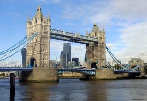 We walked past the Tower Bridge...
