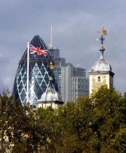 Londoners have nicknamed the pickle-shaped building