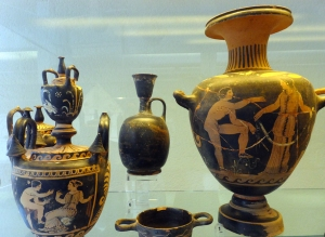 Somehow numerous ceramic vases and jugs survived from the 5th century BC.