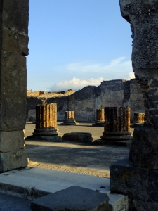 But the buildings and columns are not replicas. Hard to believe these structures were once encased in volcanic ash.