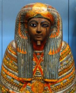 Encased in elaborate, beautiful sarcophagi.