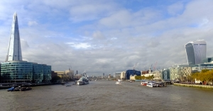 It was but a short walk to the River Thames, where London's modern architecture is on display.