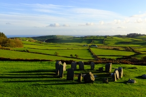 In an isolated part of the southern Ireland countryside, about an hour or so West of Kinsale, lies the prehistoric Drombeg stone circle.