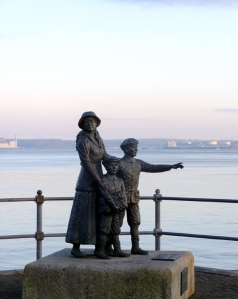 Cobh was the departure point for 2.5 million of the six million Irish people who emigrated to North America between 1848 and 1950. This statue commemorates Annie Moore and her brothers, the first people to enter the US through the immigration center at Ellis Island, New York.