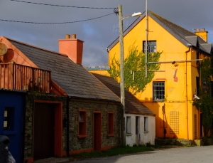 Street scene, Robert's Cove, County Cork, Ireland.