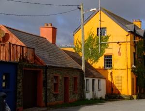 Street scene, Robert's Cove, County Cork, Ireland.