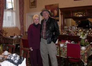 Here we are in the dining room during our 2011 trip.