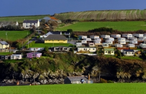 This is probably the most appealing trailer park I've ever seen! Robert's Cove, County Cork, Ireland.