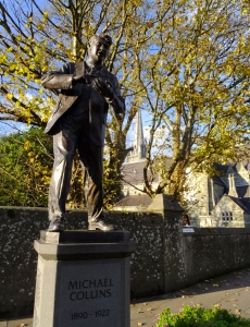 This statue of the Irish hero Michael Collins stands in Clonakilty, just west of Kinsale. This is near where