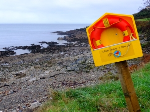 These rescue stations dot the coastline everywhere in Ireland. It reads,