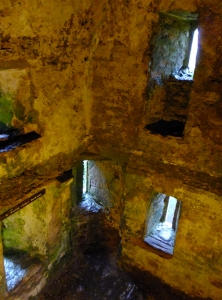 The trip to the top of the castle offers glimpses of the interior. One can see how rooms were arranged, and how the wooden floors were attached to the stone shell of the building.