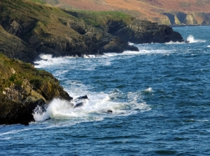 The coast is never very far away from most of Ireland. This spot is a couple miles south of Kinsale.