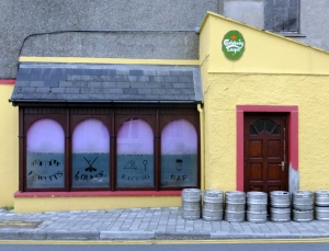 As in just about all Irish villages, there are several thriving pubs. The empty kegs outside the back door of Fawlty's testify to the popularity of the place.