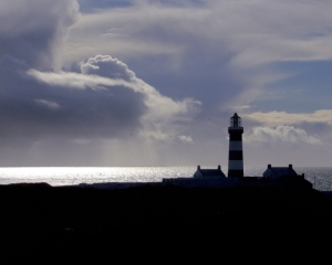 The lighthouse at Old Head is usually inaccessible, except to those who can afford membership in the exclusive golf club. This didn't stop us from driving inside when we found the gate open and unattended.