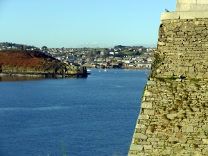 The fort's bastions provide spectacular views of the River Bandon.