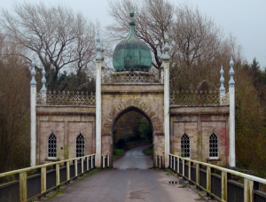 Cappoquin's Dromana Gate is a Hindu-Gothic structure built in the early 1800s. It was on the Dromana Estate that Katherine, wife of the 16th Earl of Desmond, is reputed to have lived to the great age of 160 (!) and to have died as a result of a fall from a cherry tree.
