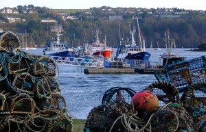 You can see from the crab traps and trawlers that Kinsale is a working fishing town.