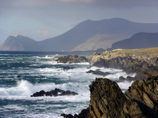 Achill's west coast is continuously pounded by the mighty Atlantic.