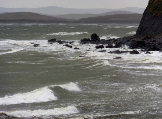 And it did indeed get stormy. Sometimes Clew Bay is wracked by strong winds and fierce storms off the Atlantic. Click this picture for a short (about one minute) video of Clew Bay when the winds were howling. The video will open in a new window.
