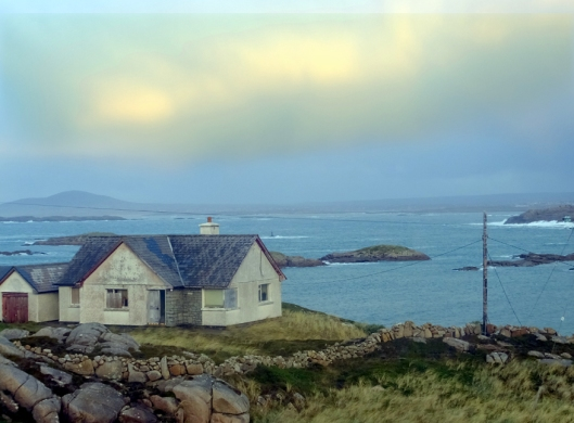 The small island is between Rosses Bay and the Atlantic Ocean. It is sprinkled with vacation homes, all with spectacular views.