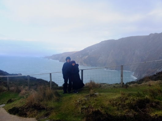 Some other tourists, from Germany, took our picture at Slieve League, and we took theirs.