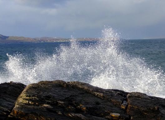 Crashing waves always entertain.