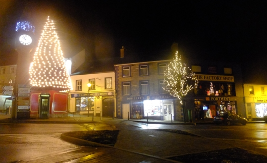Westport's town center was designed in the late 18th century in the Georgian style. Christmas decorations graced the town while we were there in December.