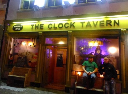 Click this picture to see a short video (1:35) of Westport nightlife, walking past and through the pubs. The video will open in a new window.