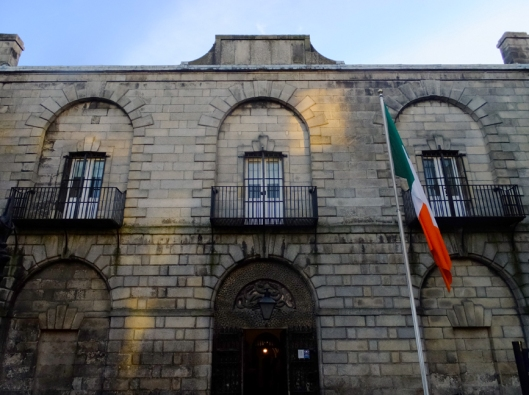 This is Kilmainham Gaol, where the rebels who participated in the Easter Rising were taken, and where teh executions were carried out.