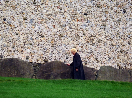 To visit Newgrance is to gain a much deeper appreciation of the depth and breadth of Irish contributions to civilization. Here, Sarah studies the stones.