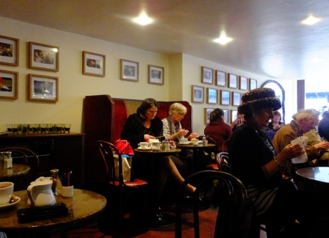 Modern Dubliners continue the tradition of taking tea at Bewley's.
