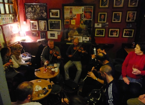 The Cobblestone is one of Dublin's showcases for traditional music sessions.