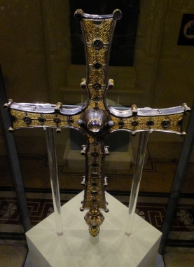 Dublin is also the site of the National Museum of Ireland. This is the Cross of Cong, an early twelfth century processional reliquary, once said to contain a fragment of the True Cross.