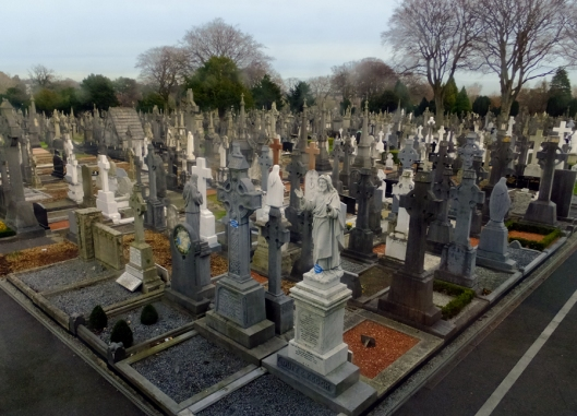 Prior to 1832, when Glasnevin Cemetery was established, repressive British laws forbade Catholic ceremonies and Catholic cemeteries. It iis now the final resting place of about 1.5 million Dubliners.