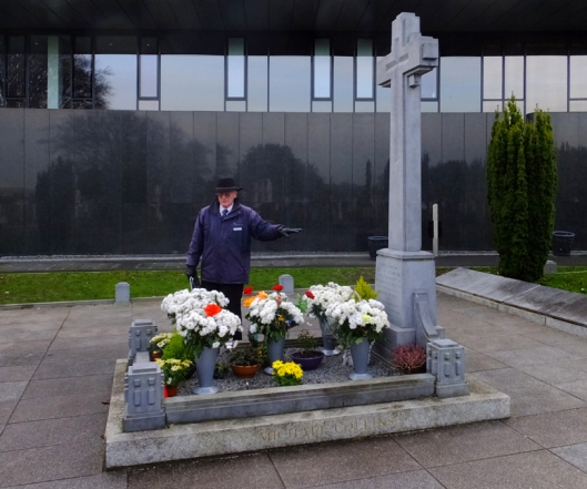 "The grave of Michael Collins, ""The Big Fella,"" is given a special place."