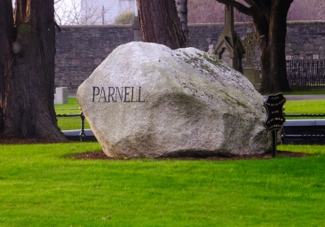 Ireland's heroes are honored in Glasnevin. This great stone marks the resting place of politician, reformer, and agitator Charles Stewart Parnell (1846-1891).