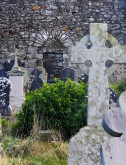 Evocative ruins of St. Kevin's monastic settlement survive.